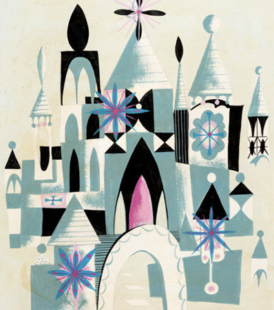 'It's a Small World' Concept Painting by Mary Blair (Walt Disney, 1964)
