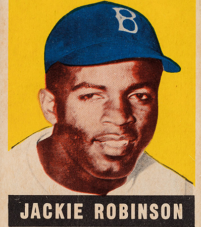 1948 Leaf Jackie Robinson #79 PSA NM-MT 8