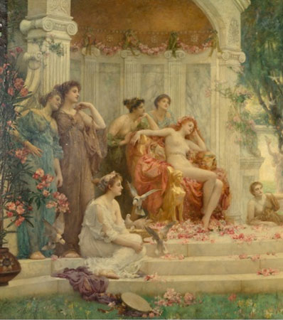 Henrietta Rae (British, 1859-1928) | Psyche before the throne of Venus, 1894