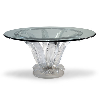 Lalique Clear and Frosted Glass Cactus Center Table Designed by Marc Lalique, designed 1951
