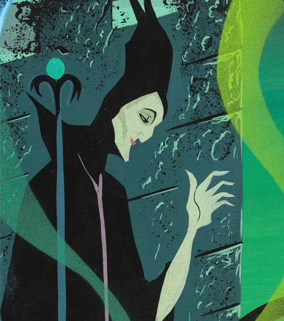 Eyvind Earle Sleeping Beauty Maleficent Diorama Painting