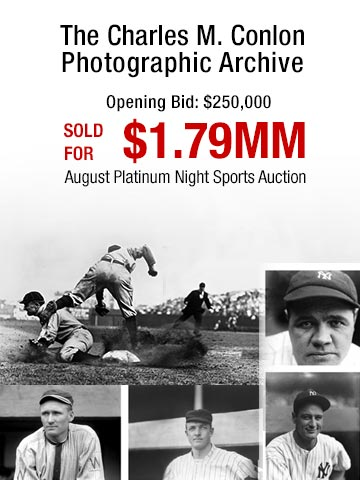 The most significant baseball Photography archive extant: The Charles M. Conlon Photographic Archive