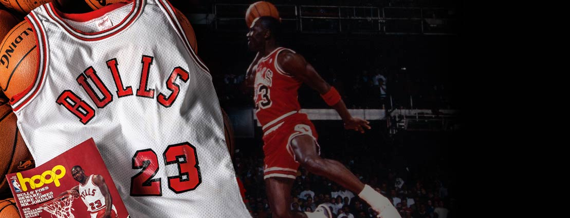 1984 Michael Jordan Earliest Known Worn Chicago Bulls Rookie Jersey--Photo Matched!