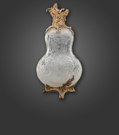 A Paul Sormani Gilt Silver-Mounted Engraved Rock Crystal Bottle, 2nd half of the 19th century