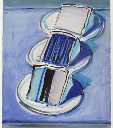 Wayne Thiebaud Three Cake Slices, 2008