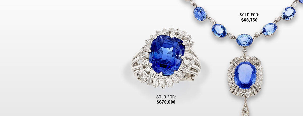 Kashmir Sapphire, Diamond, Platinum Ring, Earrings and Necklace
