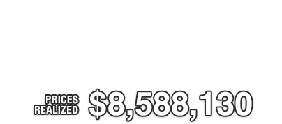 Thank you for your participation in the Summer Platinum Night Sports Collectibles Catalog Auction | Total Price Realized: $8,588,130