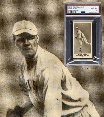 1916 Indianapolis Brewing Co. Babe Ruth #151 Rookie PSA VG-EX 4.