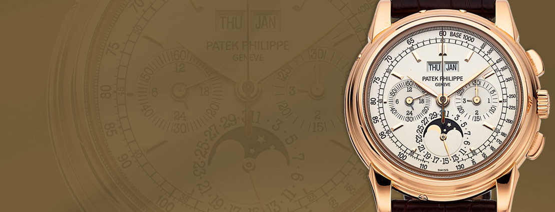 Patek Philippe Ref. 5970R-001 Very Fine Rose Gold Chronograph With Perpetual Calendar, Moon Phases, Tachometer And 24 Hour Indication | Sold for $125,000.00