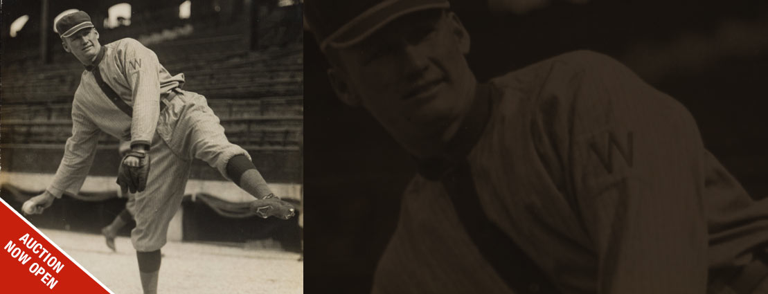 Early 1910's Walter Johnson Original Photograph Used for 1914-15 Cracker Jack Cards, PSA/DNA Type 1.