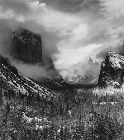 Ansel Adams Clearing Winter Storm, Yosemite National Park, 1937