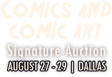 2015 August 27 - 29 Comics Signature Auction - Dallas  #7147
