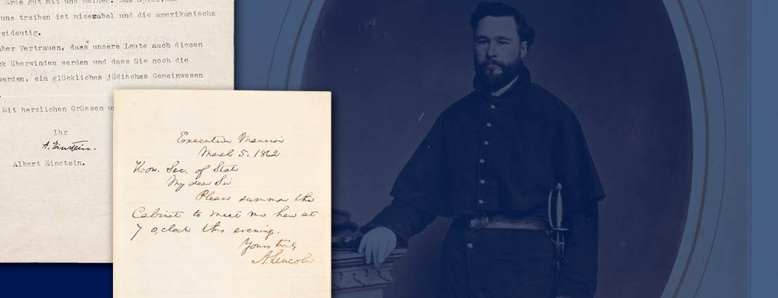 Historical Manuscripts: Abraham Lincoln Autograph Letter Signed  and more