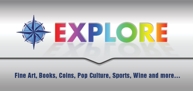 Explore Fine Art, Books, Coins, Pop Culture, Sports, Wine and more