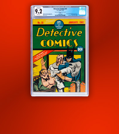 Detective Comics #35 Larson Pedigree (DC, 1940) CGC Conserved NM- 9.2 White pages