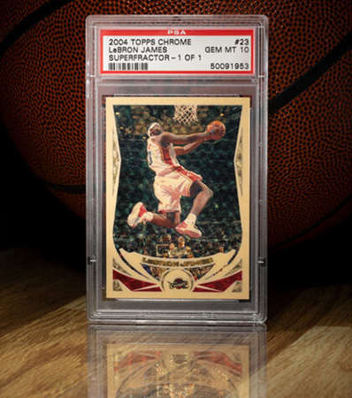 2004 Topps Chrome LeBron James (Superfractor) #23 PSA Gem Mint 10 - #'d 1 of 1