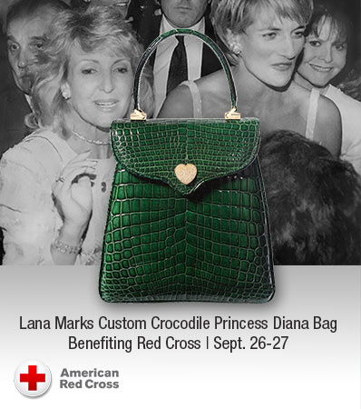 Lana Marks Custom Crocodile Princess Diana Bag Benefiting Red Cross | Sept. 26-27