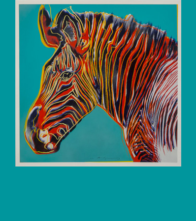 Andy Warhol | Grevy's Zebra, from Endangered Species, 1983