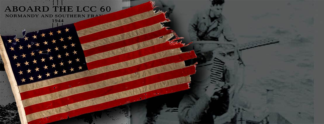 The 48 Star Flag that Led the First Americans to Utah Beach on D-Day, June 6, 1944