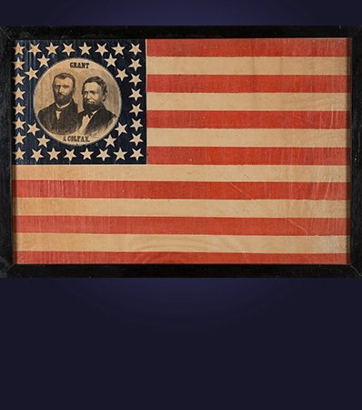 Grant & Colfax: Spectacular Large 1868 Jugate Campaign Flag