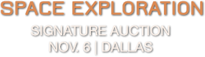 2015 November 6 Space Exploration Signature Auction - Dallas #6146 title=