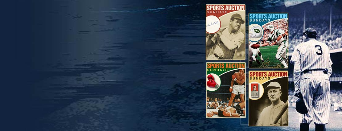 Four Catalog Covers of Sunday Sports Auctions