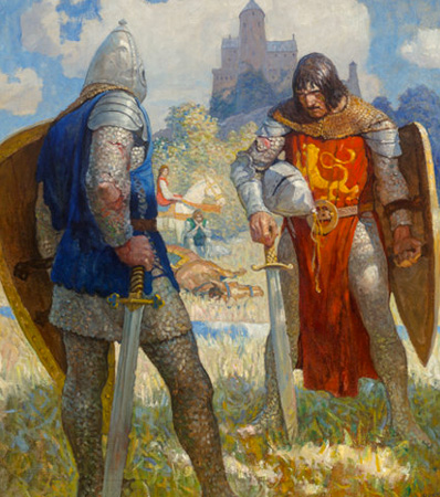 Newell Convers Wyeth (American, 1882-1945), The Boy's King Arthur: Sir Thomas Malory's History of King Arthur and His Knights of the Round Table interior book illustration