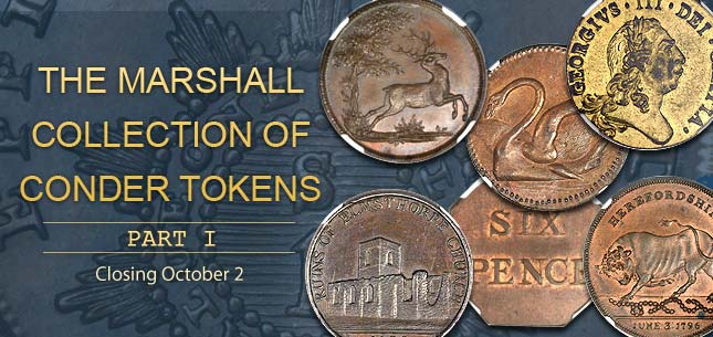 The Marshall Collection of Conder Tokens Part I #241435