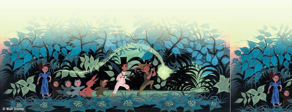 Mary Blair Peter Pan Neverland Concept/Color Key Painting (Walt Disney, 1953)