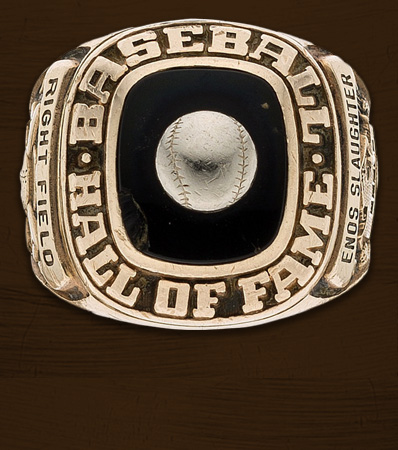 1985 Baseball Hall of Fame Induction Ring Presented to Enos Slaughter