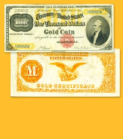 Fr. 1218f $1,000 1882 Gold Certificate PCGS Very Fine 35.