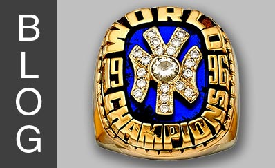 1996 New York Yankees World Championship Pendant Crafted into Ring