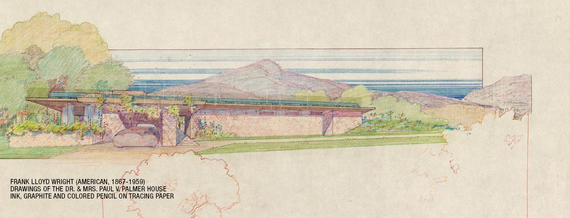 Frank Lloyd Wright (American, 1867-1959) Drawings of the Dr. & Mrs. Paul V. Palmer House, Phoenix, Arizona (twenty-four works), 1930