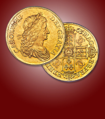 Great Britain: Charles II gold Proof Pattern Crown 1663 PR58 PCGS