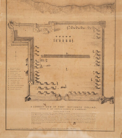 Fort Defiance: 1836 Joseph Chadwick Map of Col. James Fannin's Defenses at the Historic Site of the Battle of Goliad
