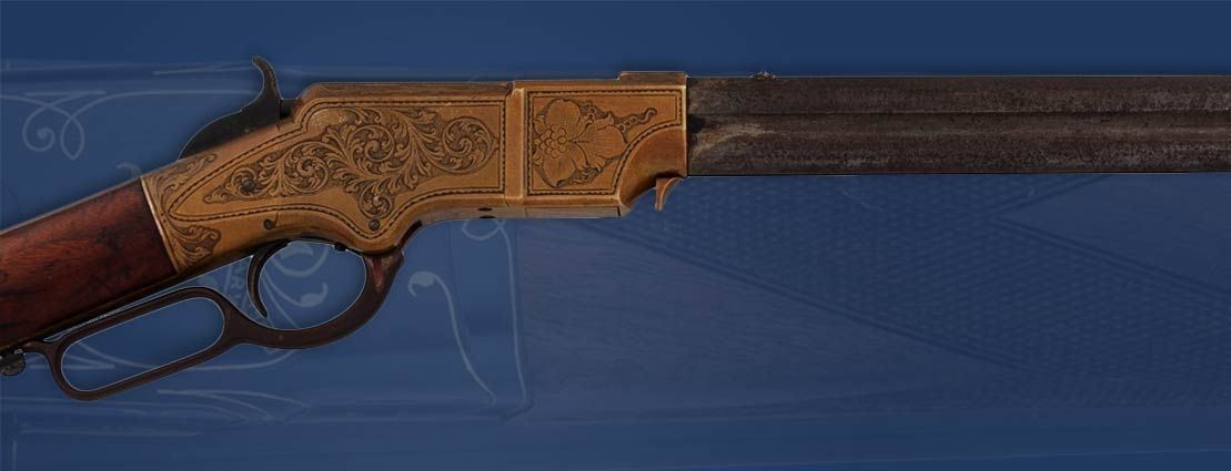 Historic Engraved Henry Model 1860 Lever Action Rifle with History Related to American Civil War General Edward McCook and Hawaiian Royalty, King Kalakaua and Princess Kawananakoa