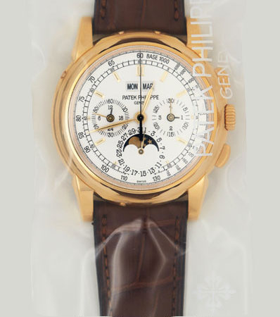 Patek Philippe, Ref. 5970J-001, Unused Single Sealed, Gold Chronograph With Perpetual Calendar