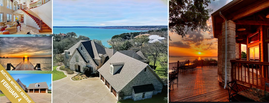 Custom Luxury Home Overlooking Lake Whitney in Exclusive White Bluff Resort