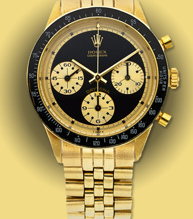 Rolex, Very Fine and Rare 14k Gold Ref. 6241 'Paul Newman' Cosmograph Daytona 'John Player Special'