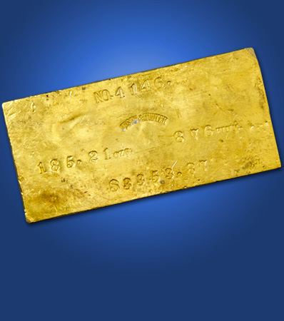 Justh & Hunter Gold Ingot, 185.21 Ounces