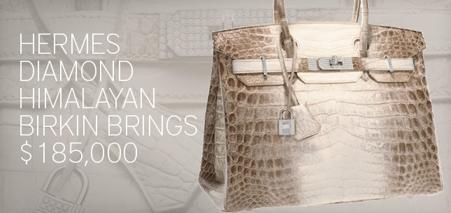 Hermes Diamond Himalayan Birkin Brings $185,000 At Auction