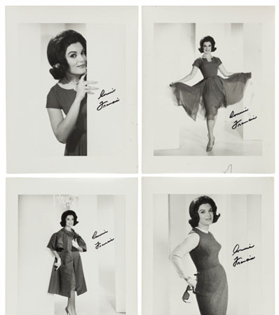 A Connie Francis Group of Black and White Signed Photographs, Circa 1960