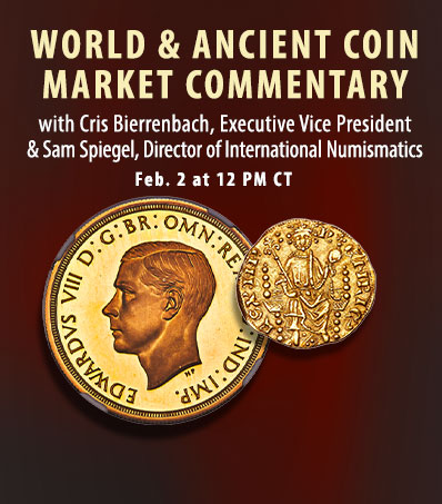 World & Ancient Coin Market Commentary