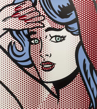 Roy Lichtenstein (1923-1997) - Nude with Blue Hair, from Nudes, 1994