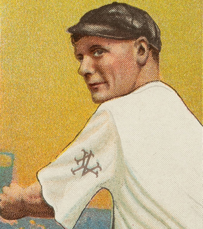 1909-11 T206 Uzit Rube Marquard (Follow Through) PSA NM 7 - The Finest of Only Two Confirmed Examples!