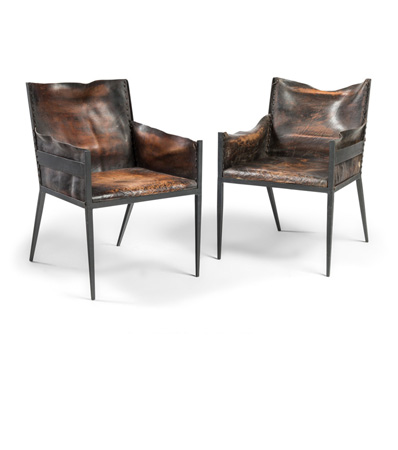 Jean-Michel Frank, Pair of Rare Armchairs, circa 1939