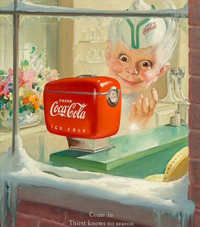 Haddon Hubbard Sundblom | Sprite Boy, Coca-Cola advertisement, 1949