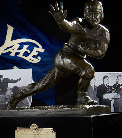 1937 Heisman Memorial Trophy Presented to Yale University Halfback Clint Frank