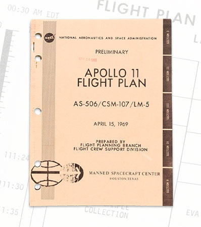 Neil Armstrong's Apollo 11 Flight Plan