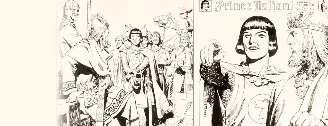 Hal Foster Prince Valiant #310 Sunday Comic Strip Original Art dated 1-17-43 (King Features Syndicate, 1943).